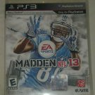 Madden NFL 13 Football (Sony PlayStation 3, 2012) PS3