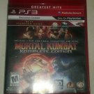 Mortal Kombat Complete Edition Greatest Hits (Sony PlayStation 3, 2012) CIB PS3