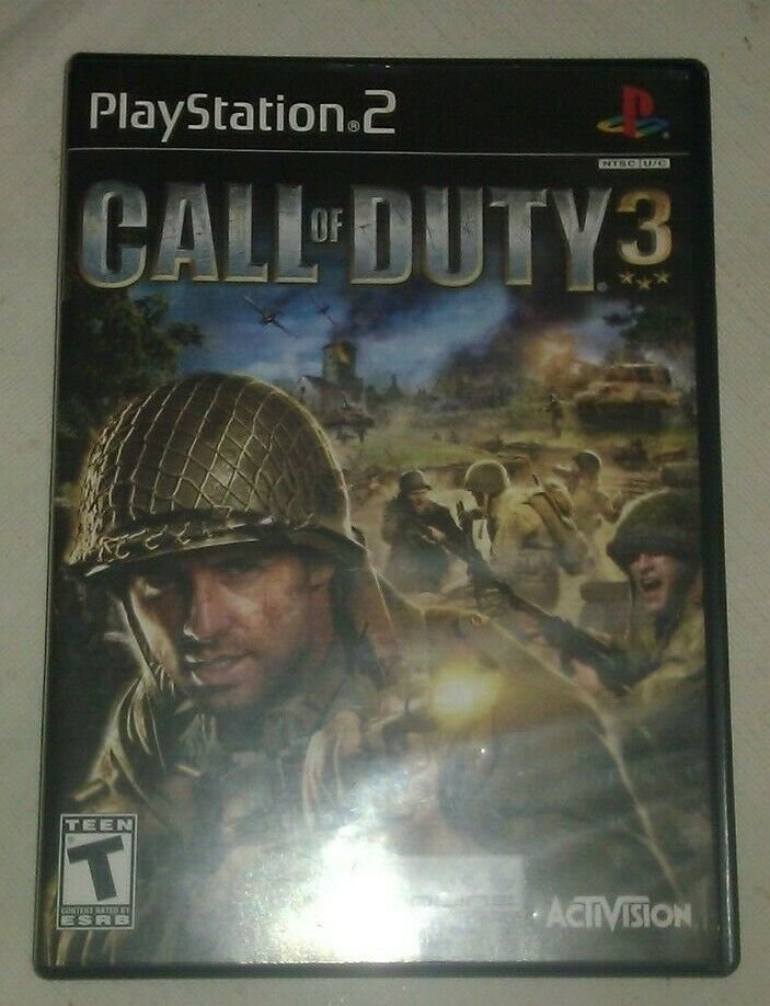 Call of Duty 3 (Sony PlayStation 2, 2006) Complete With Manual CIB PS2 Tested