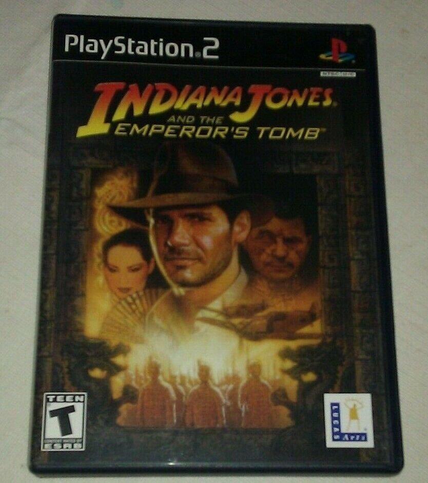 Indiana Jones and the Emperor's Tomb (Sony PlayStation 2, 2003) W Manual CIB PS2