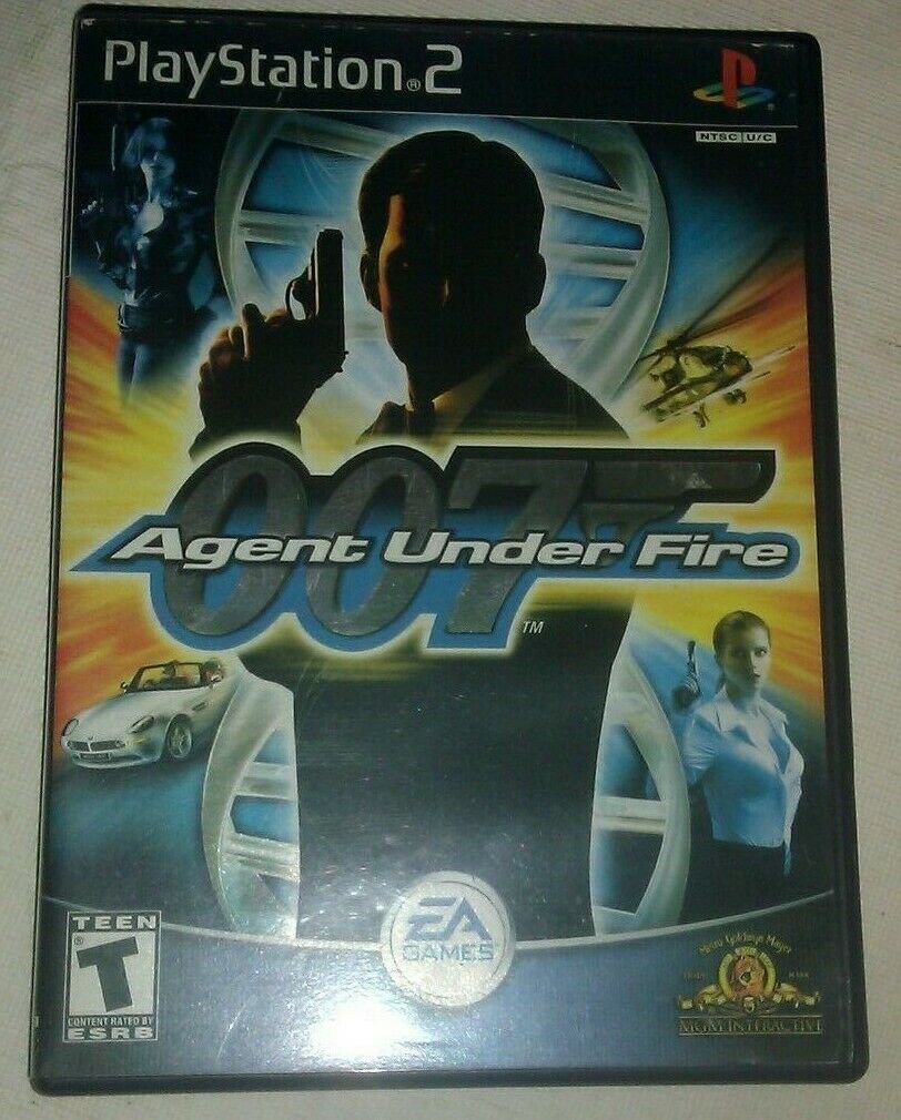 James Bond 007 in Agent Under Fire Sony PlayStation 2 2002 With Manual CIB PS2