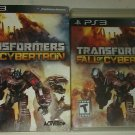 Transformers: Fall of Cybertron (Sony PlayStation 3) Complete W Manual CIB PS3