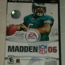 Madden NFL 06 Football (Sony PlayStation 2, 2005) PS2 CIB Complete