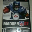 Madden NFL 07 Football (Sony PlayStation 2, 2006) PS2 CIB Complete
