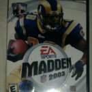 Madden NFL 2003 Football (Sony PlayStation 2, 2002) PS2 CIB Complete