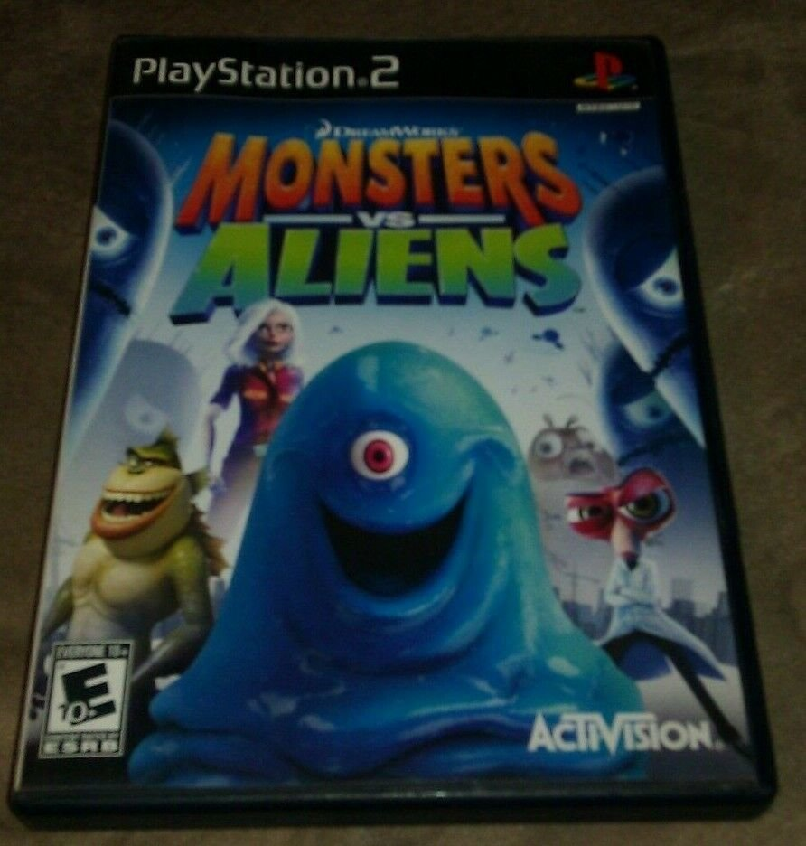 Monsters vs. Aliens (Sony PlayStation 2, 2009) Complete With Manual CIB PS2