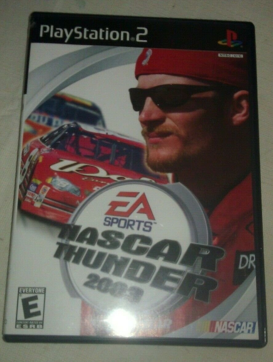 NASCAR Thunder 2003 (Sony PlayStation 2, 2002) Complete With Manual CIB PS2