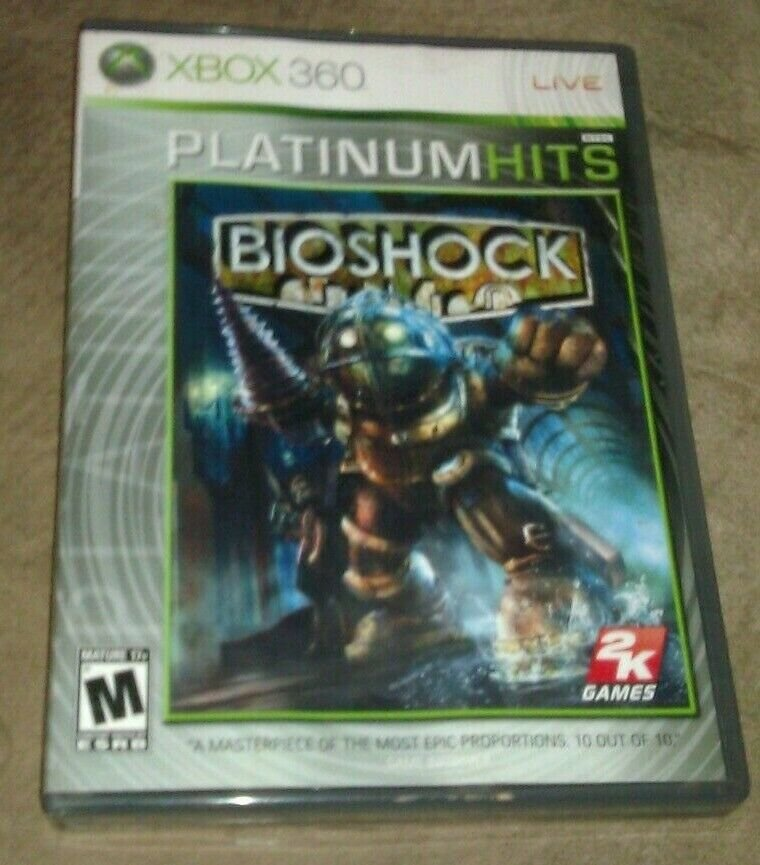 BioShock Platinum Hits (Microsoft Xbox 360, 2007) CIB Complete