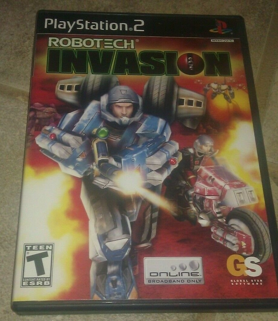 Robotech: Invasion (Sony PlayStation 2, 2004) Compete With Manual CIB PS2