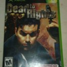 Dead to Rights (Microsoft Xbox Original 2002) With Manual CIB Tested