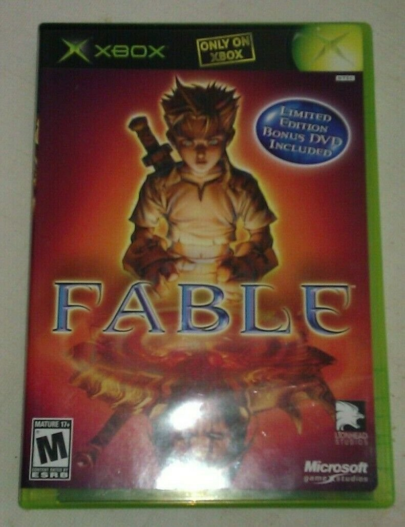 Fable (Microsoft Xbox, 2004) Complete CIB Tested