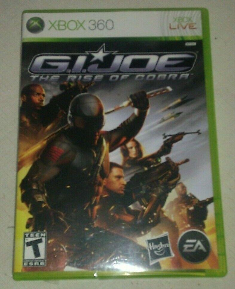 G.I. Joe: The Rise of Cobra (Microsoft Xbox 360, 2009) Complete With Manual CIB