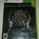 Game of Thrones (Microsoft Xbox 360, 2015) Tested