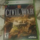 History Channel: Civil War - A Nation Divided (Microsoft Xbox 360) CIB Tested