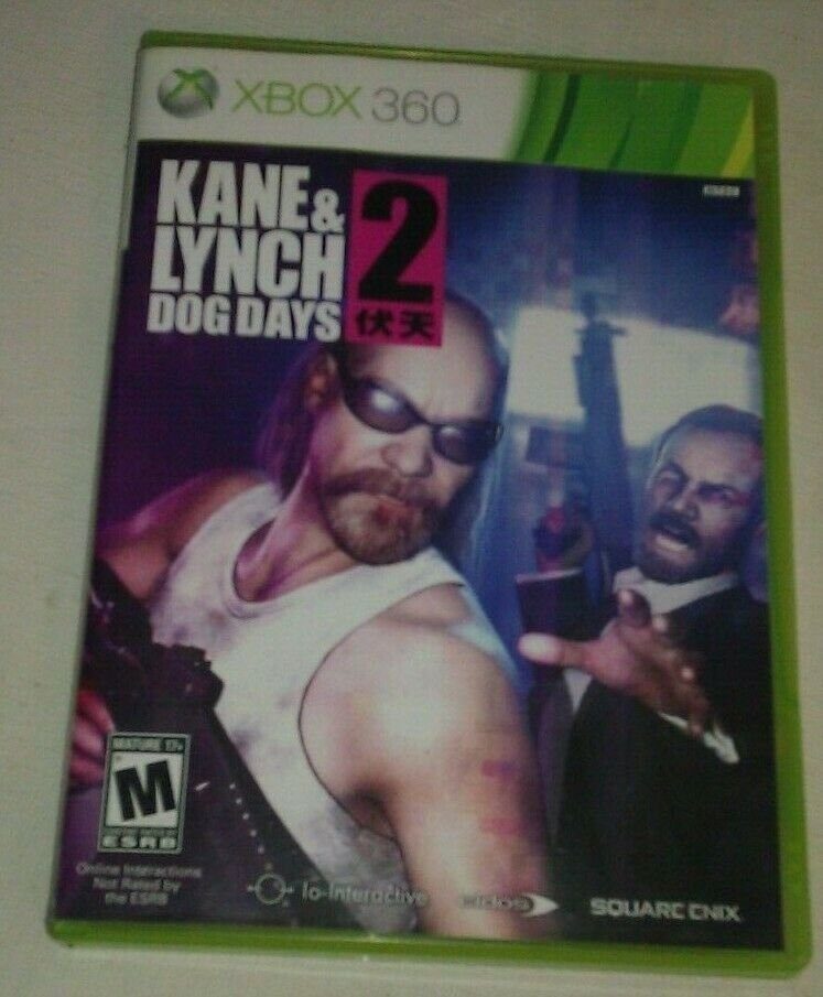 Kane & Lynch 2: Dog Days (Microsoft Xbox 360, 2010) With Manual CIB Tested