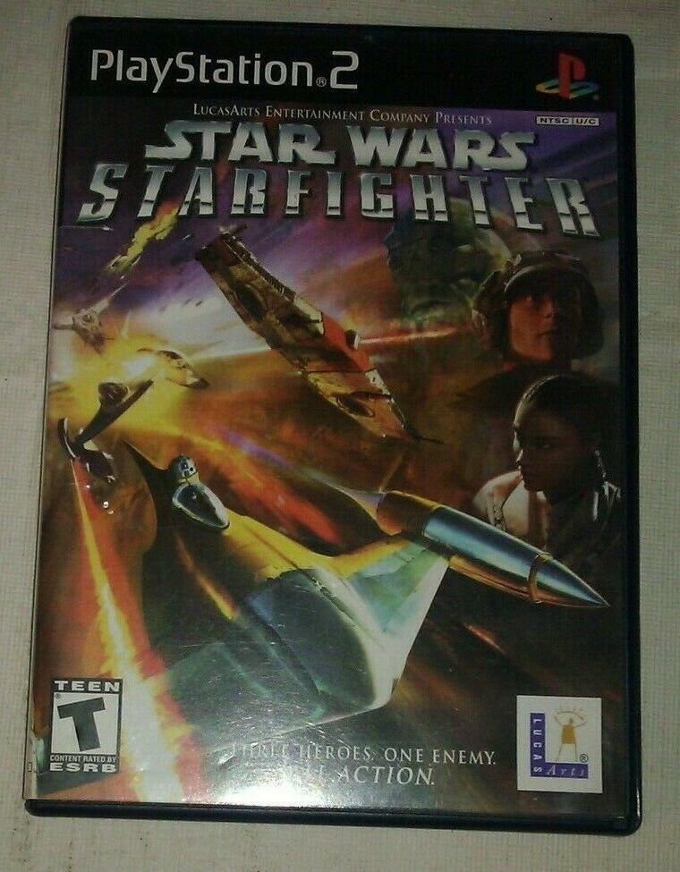 Star Wars Starfighter (Sony PlayStation 2, 2001) PS2 Complete CIB