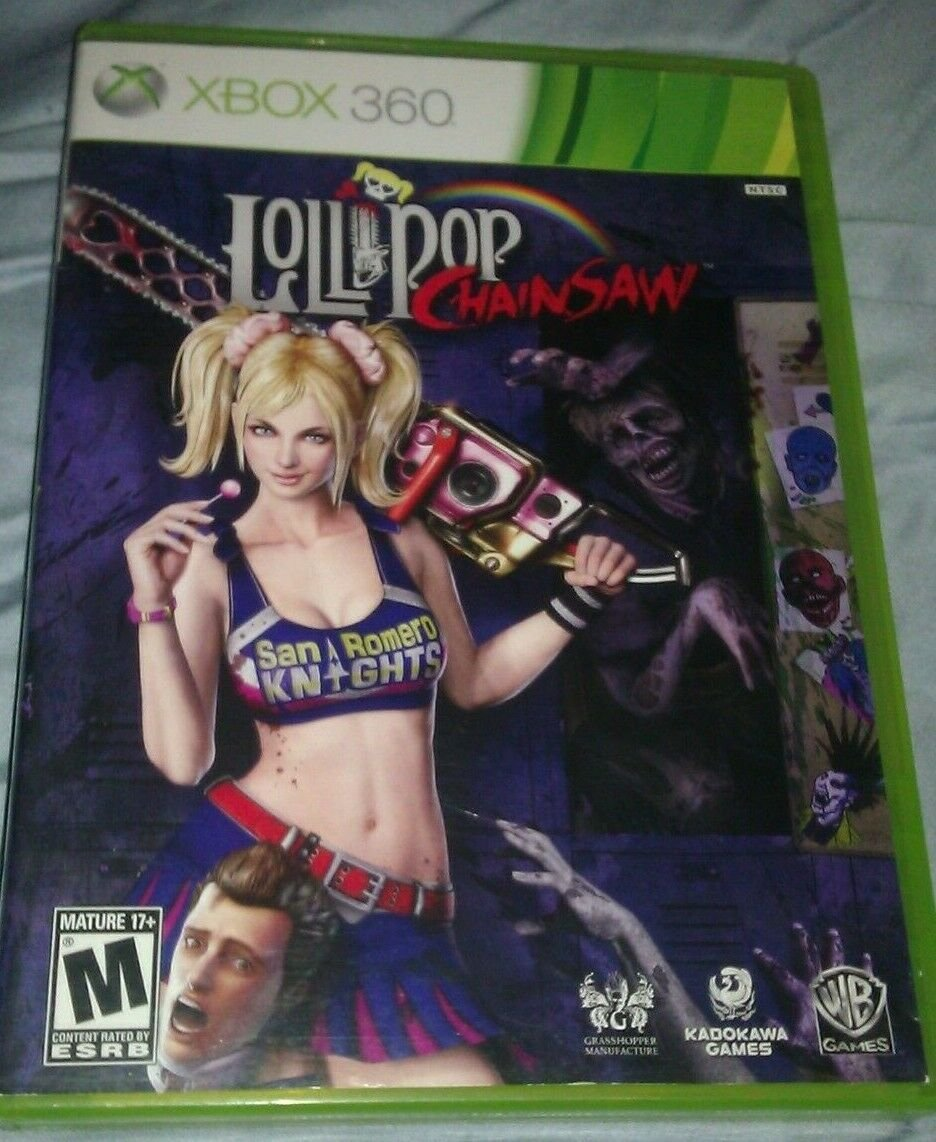 Lollipop Chainsaw (Microsoft Xbox 360, 2012) With Manual CIB Tested