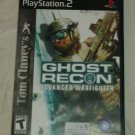 Tom Clancy's Ghost Recon: Advanced Warfighter (Sony PlayStation 2, 2006) PS2 CIB