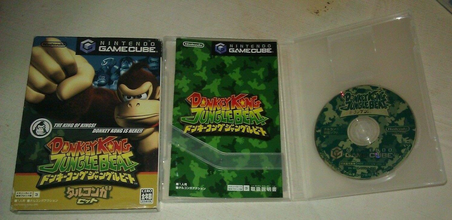 Donkey Kong Jungle Beat (Nintendo GameCube) Japan Import W/ Box & Manual