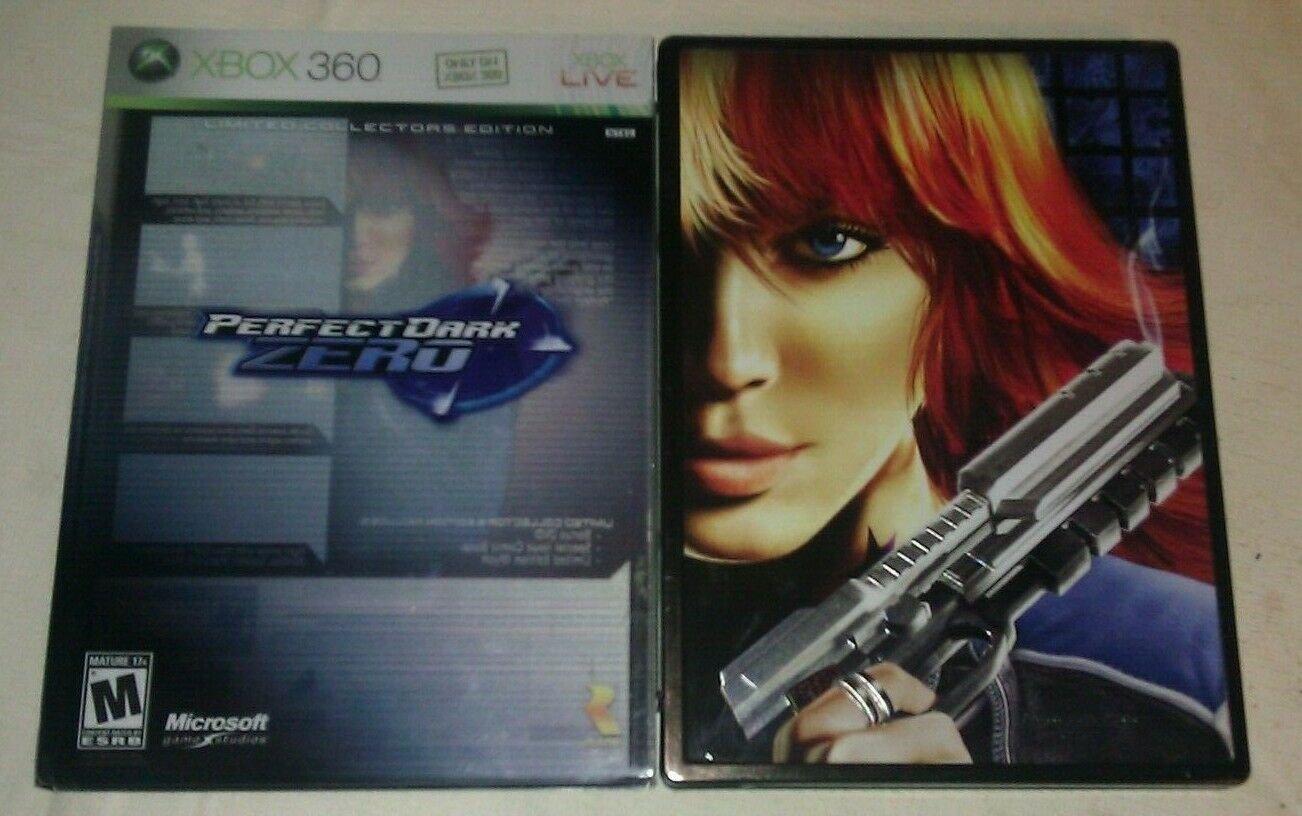 Perfect Dark Zero Limited Collector's Edition Steelbook (Xbox 360, 2005) Compete