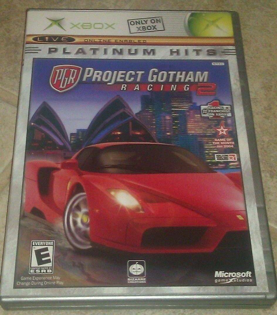 Project Gotham Racing 2 Platium Hits (Microsoft Xbox Original) W/ Manual CIB