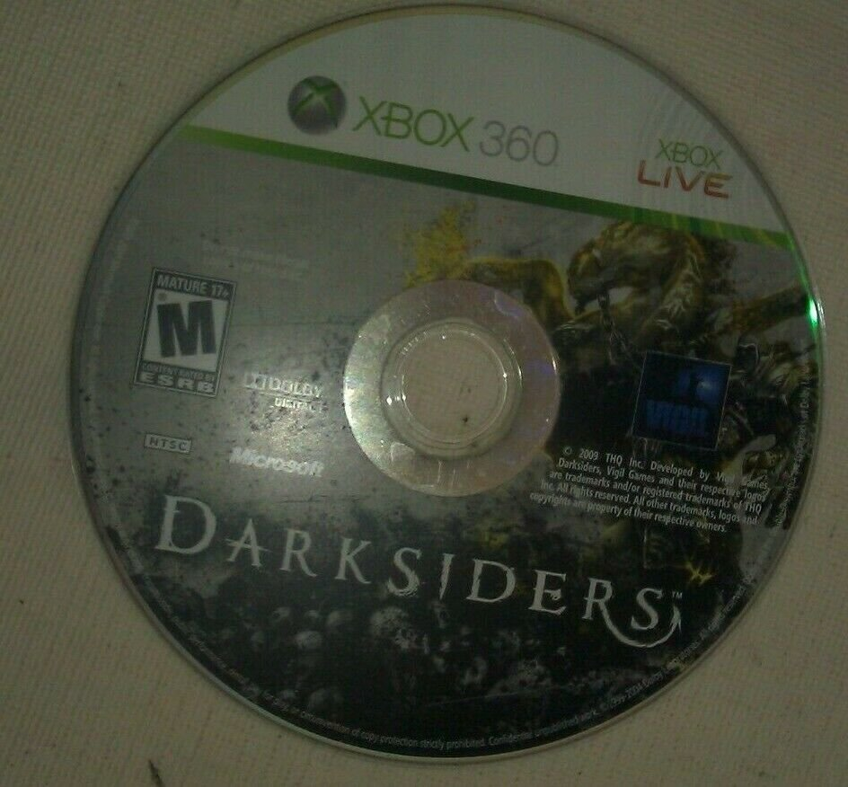 Darksiders (Microsoft Xbox 360, 2010) Disc Only Tested