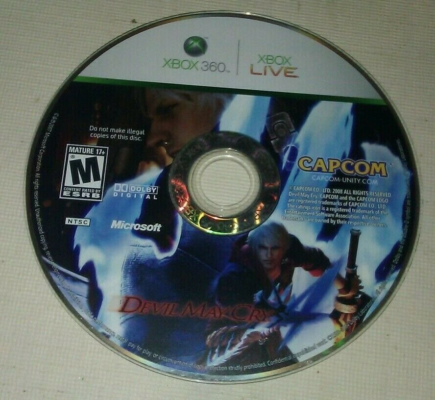Devil May Cry 4 (Microsoft Xbox 360, 2008) Disc Only Tested