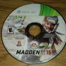 Madden NFL 15 Fooball (Microsoft Xbox 360, 2014) Disc Only Tested