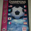 Champions World Class Soccer (Sega Genesis, 1993) CIB w Case & Manual