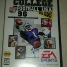 College Football USA 96 (Sega Genesis, 1995) CIB w Case & Manual