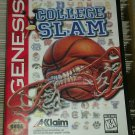 College Slam Basketball (Sega Genesis, 1996) With Case Tested