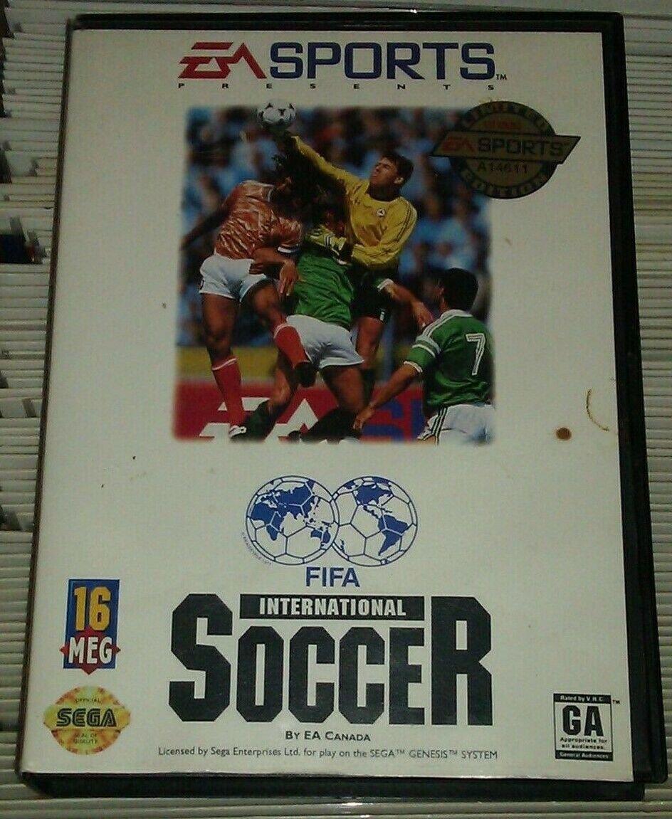 FIFA International Soccer (Sega Genesis, 1993) With Case Tested