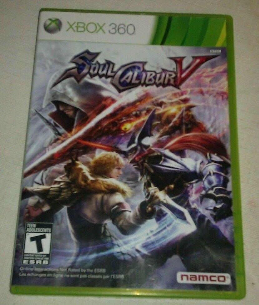 Soul Calibur V (Microsoft Xbox 360, 2012) Complete W/ Manual CIB Tested