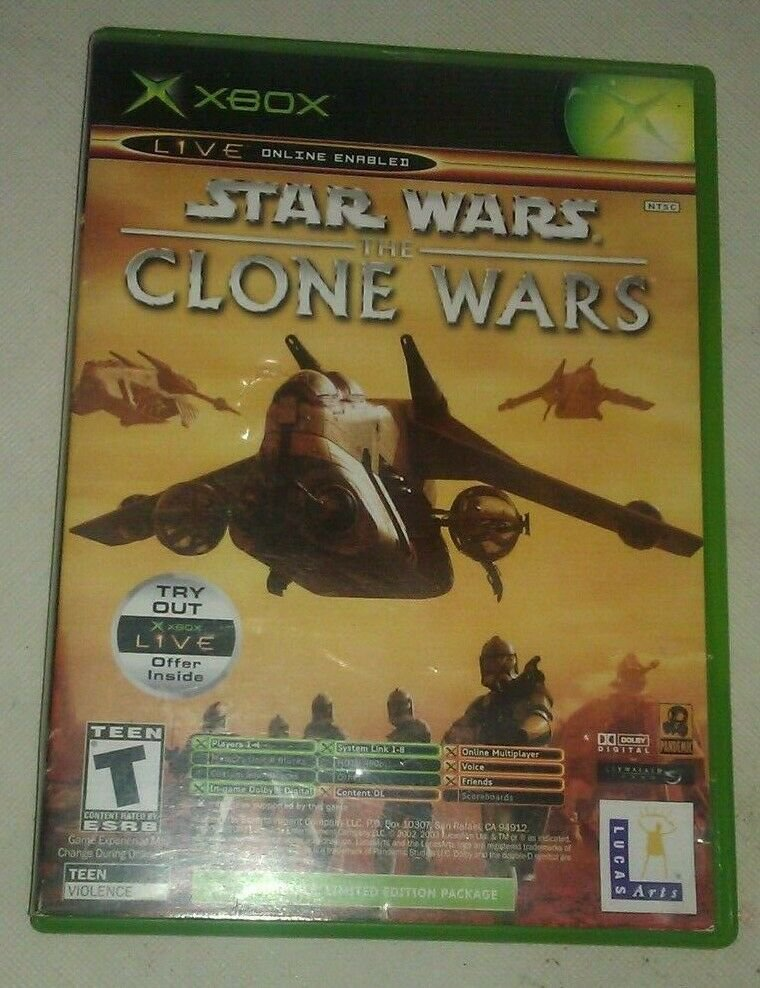 Star Wars: The Clone Wars - Tetris Worlds 2 Game Package (Microsoft Xbox, 2003)