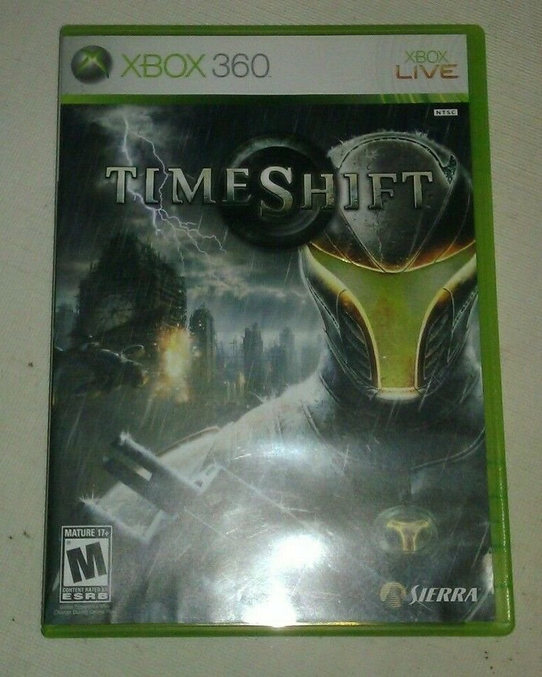 TimeShift (Microsoft Xbox 360, 2007) Complete With Manual CIB Tested