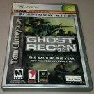 Tom Clancy's Ghost Recon Platinum Hits (Xbox Classic Original 2002) CIB Tested