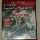 Dead Island Game of the Year Edition Greatest Hits (Sony PlayStation 3, 2012) PS3 Tested