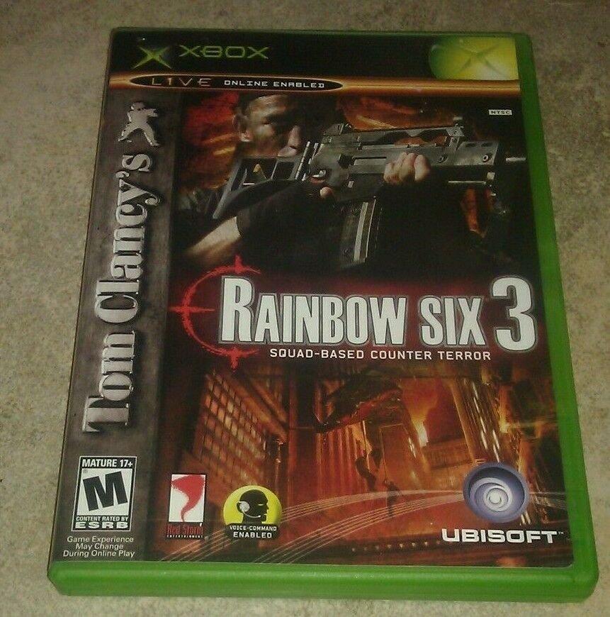 Tom Clancy's Rainbow Six 3 (Microsoft Xbox original 2003) W/ Manual CIB