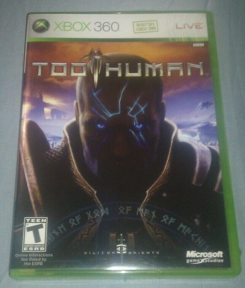 Too Human (Microsoft Xbox 360, 2008) Complete With Manual CIB Tested