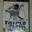 Triple Play Baseball (Sony PlayStation 2, 2001) PS2 Complete CIB