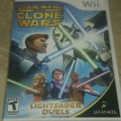 Star Wars: The Clone Wars Lightsaber Duels (Nintendo Wii, 2008) With Manual CIB