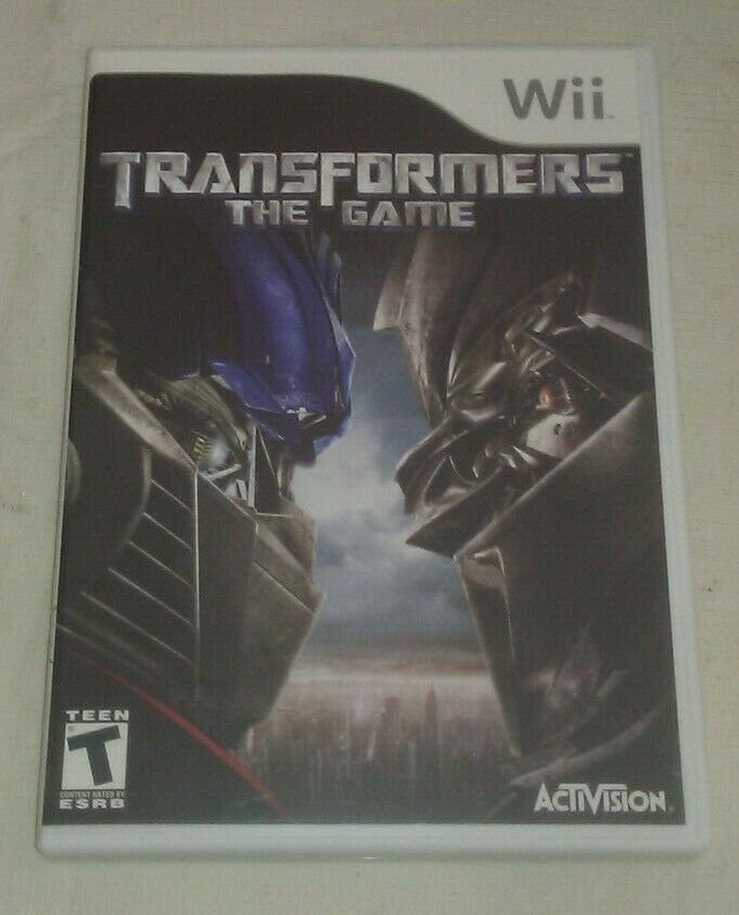 Transformers: The Game (Nintendo Wii, 2007) Complete With Manual CIB