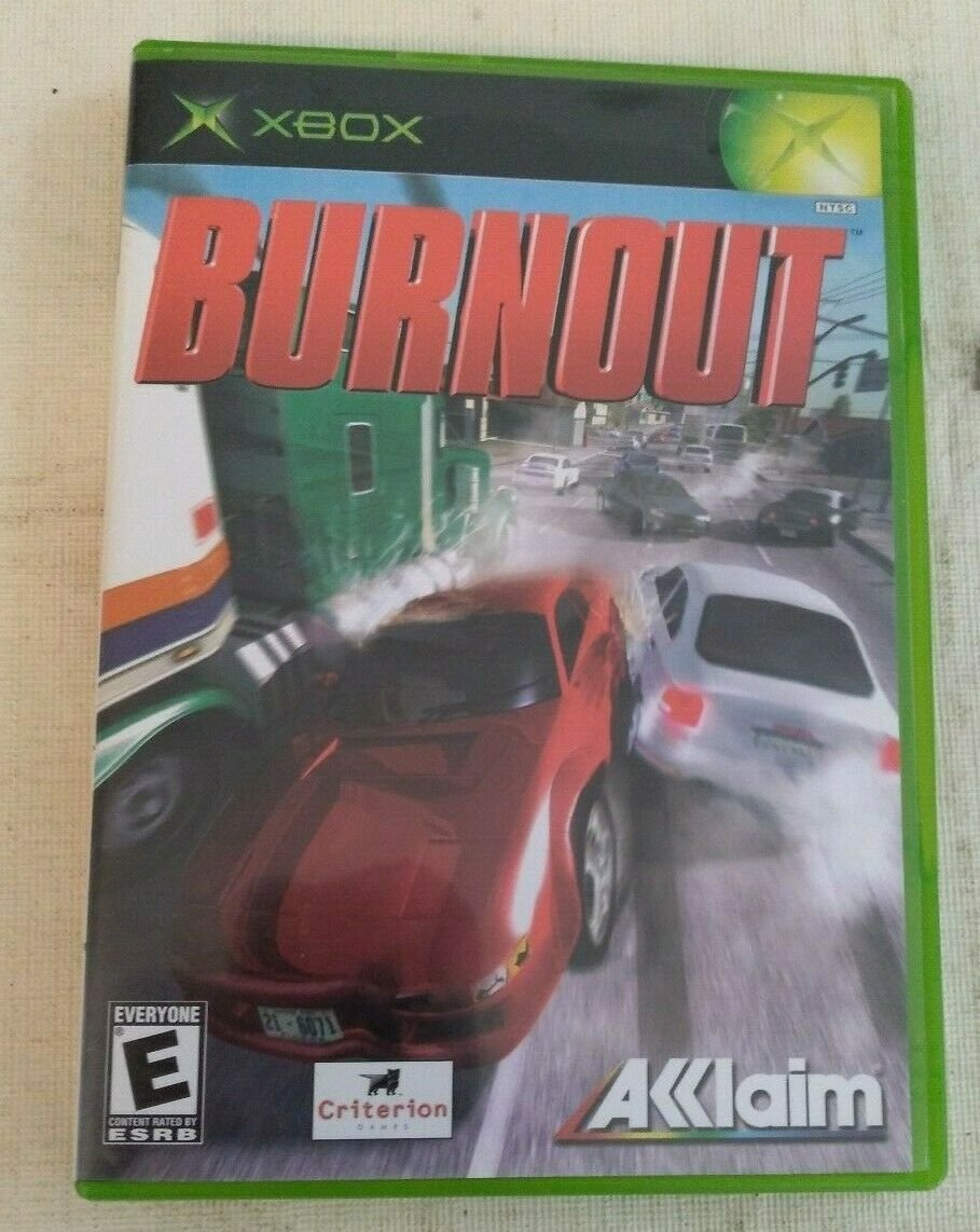 Burnout (Microsoft Xbox Original, 2002) With Manual Complete Tested