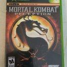 Mortal Kombat: Deception (Microsoft Xbox Original, 2004) With Manual Tested