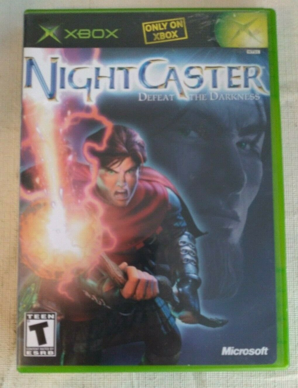NightCaster: Defeat the Darkness (Microsoft Xbox, 2002) With Manual Tested