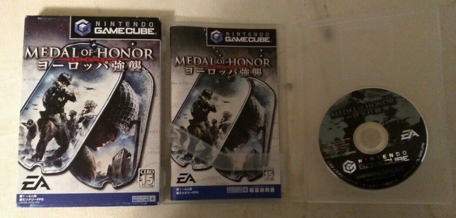 Medal of Honor: European Assault Gamecube With Box, Case, & Manual Japan Import