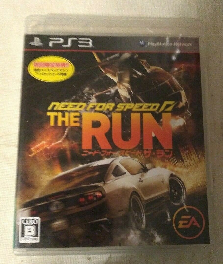 Need for Speed: The Run (Sony PlayStation 3, 2011) Complete Japan Import PS3