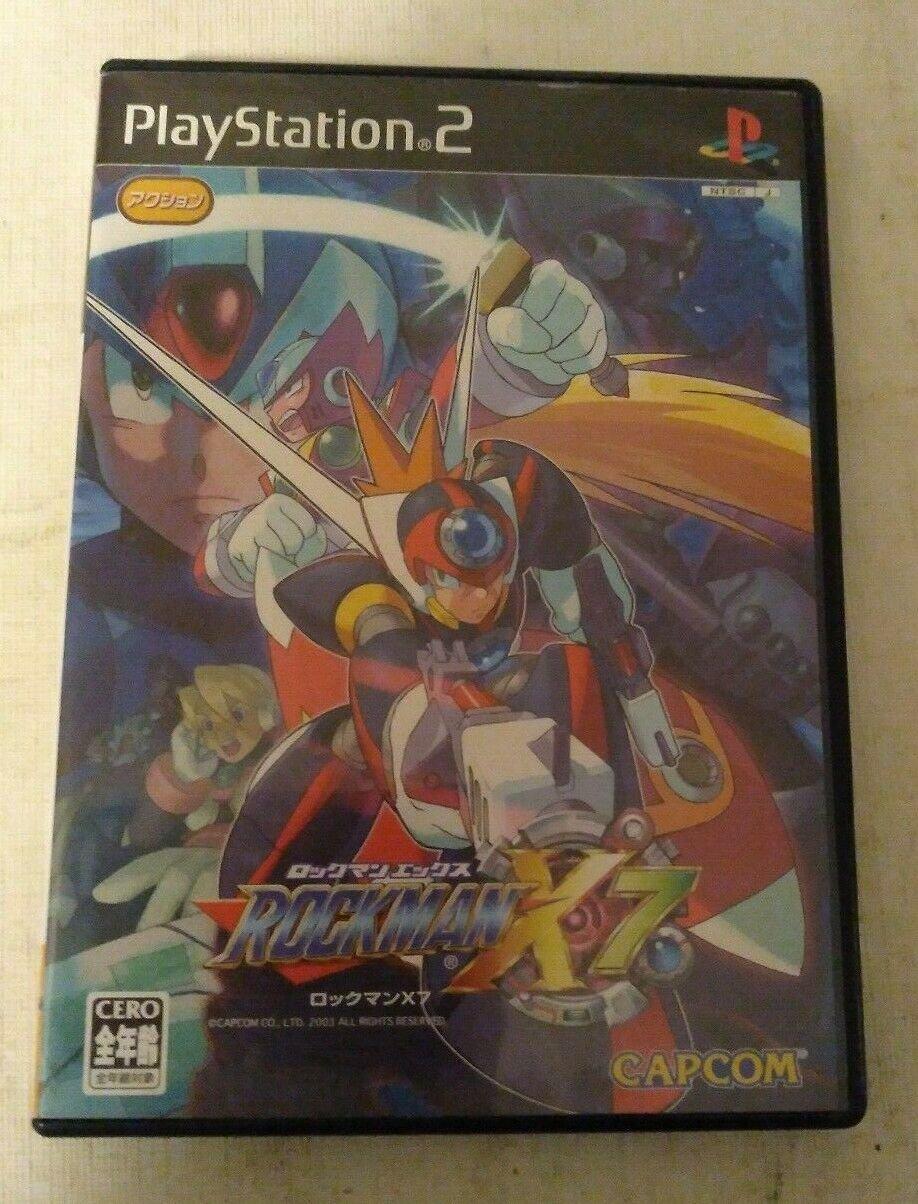 RockMan X7 (Sony PlayStation 2, 2003) Japan Import PS2 US Seller READ Megaman