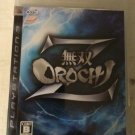 Warriors Orochi Z (Sony PlayStation 3, 2009) With Manual Japan Import PS3 Tested
