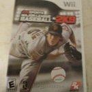 Major League Baseball 2K9 (Nintendo Wii, 2009) With Manual CIB